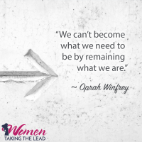 We can't become what we need to be…