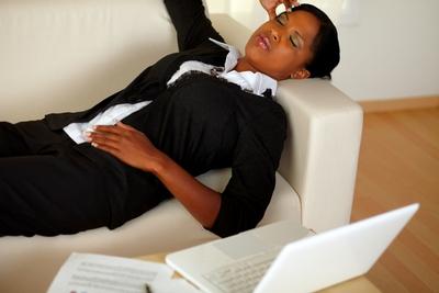 Woman Headache Overwhelm