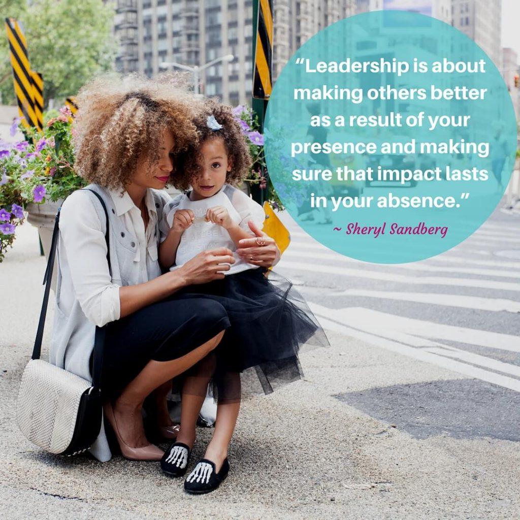 Leadership is about ~ Sheryl Sandberg